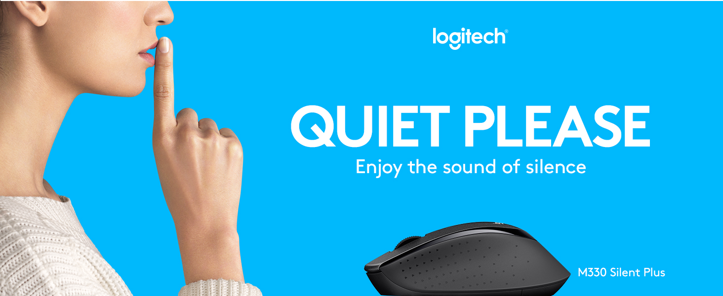 Logitech M330 Silent Plus Wireless Large Mouse Black Wireles M331 M 331 Replace M280