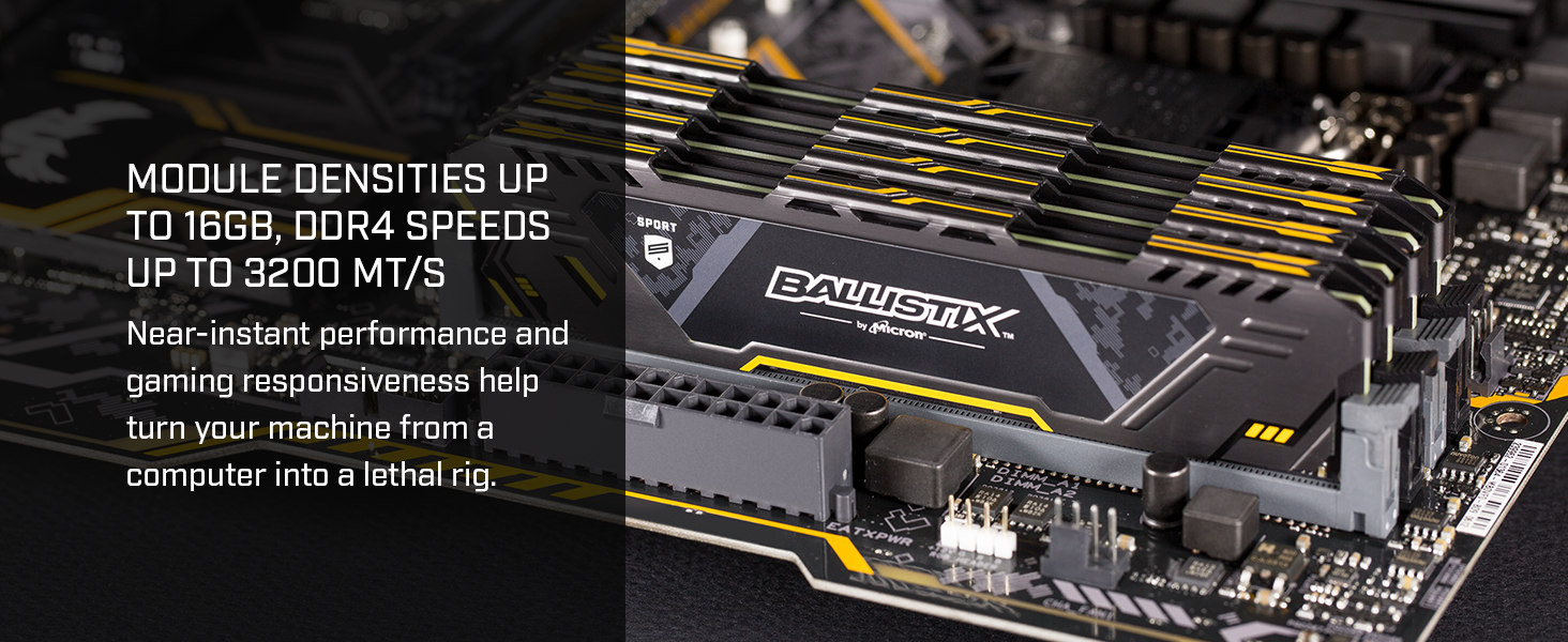 Module densities up to 16GB, DDR4 speeds up to 3200 MT/s