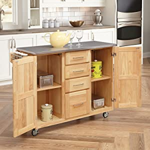 Home Styles 5086-95 Stainless Steel Top Kitchen Cart with ...