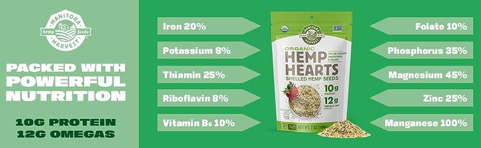 manitoba harvest hemp hearts organic natural omegas protein healthy gluten free whole 30 vegan