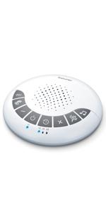 2 techniques de respiration r/églables et arr/êt automatique Beurer SL 10 DreamLight Aide au sommeil lumi/ère pour soutenir un rythme de respiration conscient pour un endormissement rapide et facile