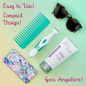 Conair Precision Bikini Trimmer Shaver, Ladies trimmer, Easy to use, compact design, portable
