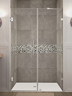 Aston Nautis Completely Frameless Hinged Shower Door 70 X 72