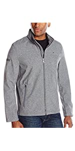 ce3dd912 Tommy Hilfiger Men's Soft Shell Classic Zip Front Jacket, Black, XX ...