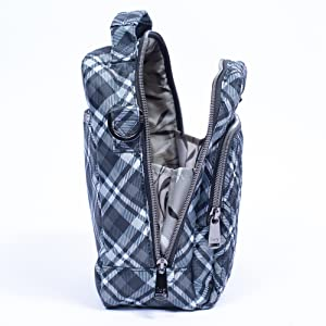 bag with wide opening, bag with wide mouth opening, roomy bag