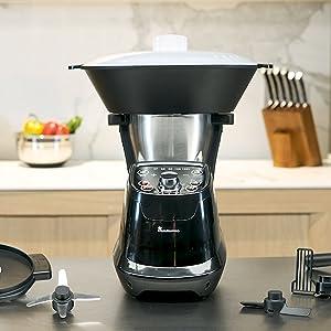 MasterPro Foodies, Robot de Cocina Multifunción, Capacidad 1,75L, Selección Grado a Grado, 6 Velocidades, Programable, Jarra Apta Lavavajillas 1200W 220-240v, Q3570: Amazon.es: Hogar