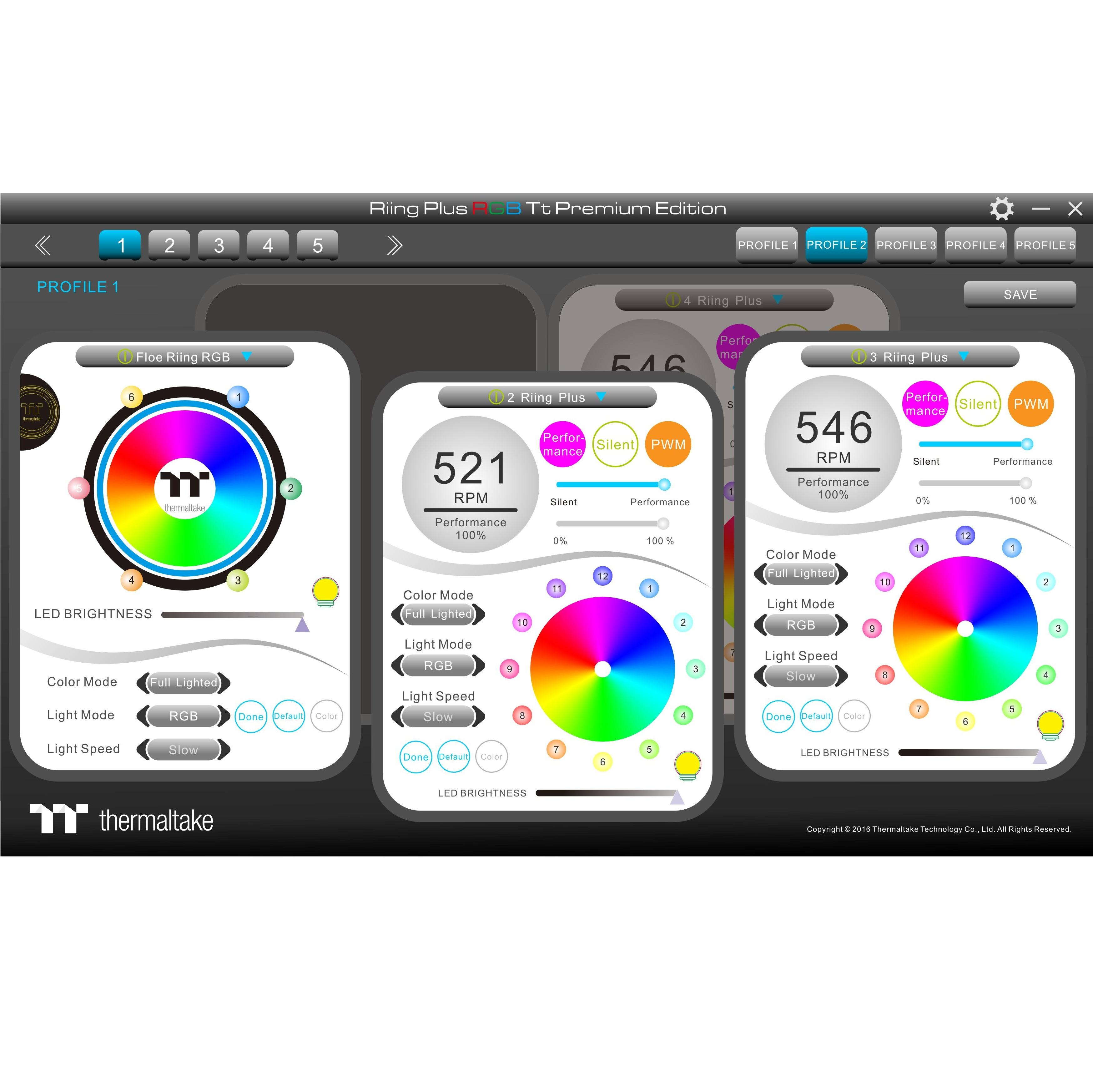 Thermaltake Floe Dual Riing RGB 280 TT Premium Edition PWM