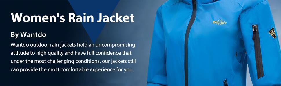 327e0c378 Amazon.com: Wantdo Women's Hoodie Front Zip Raincoat Outdoor ...