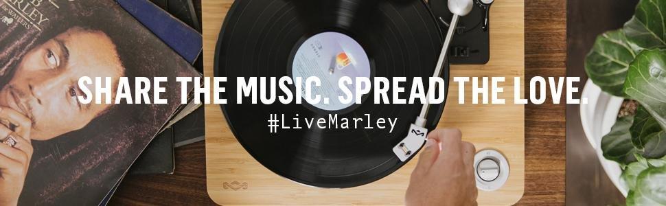 House of Marley Stir It Up Placa giratoria, 45/33 vueltas ...