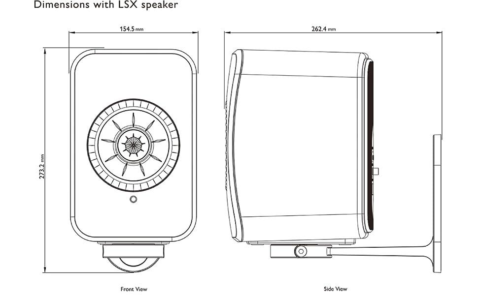 KEF b1 bracket speaker stand dimensions