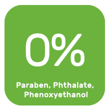 No paraben, no phthalate, no phenoxyethanol