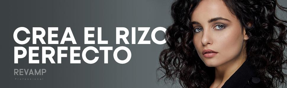 Revamp Rizador de pelo en cerámica 3 en 1, Crea ondas anchas, rizos pequeños y medianos, temperatura 120-210C, queratina Alisante Progresiva, aceites ...