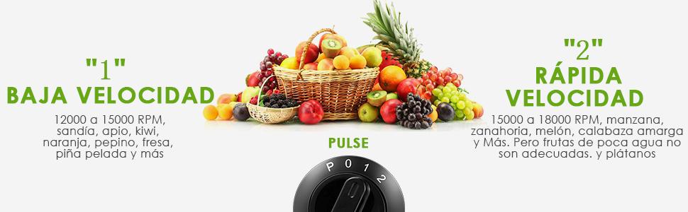 Aicok Licuadoras Para Verduras y Frutas Acero Inoxidable ...
