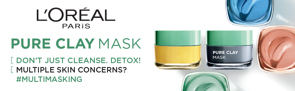 L'Oreal Paris Skin Expert Pure Clay Masks