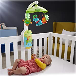 Amazon Com Fisher Price 2 In 1 Projection Mobile