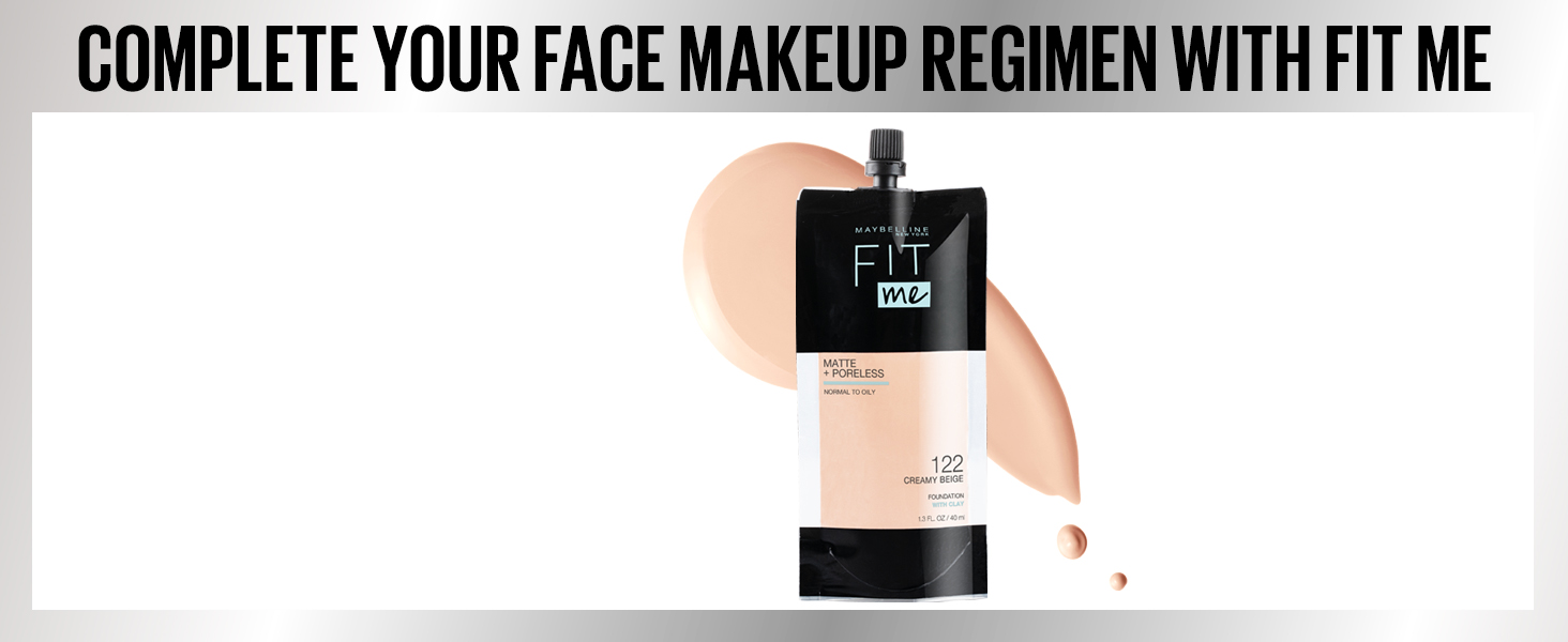 complete your face makeup regimen with fitme, makeup, face makeup, foundation, liquid foundation