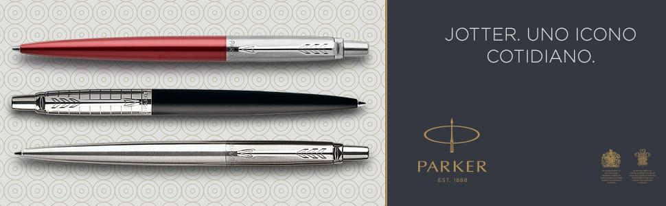 Parker Jotter Stainless Steel bolígrafo CT: Amazon.es: Oficina y papelería