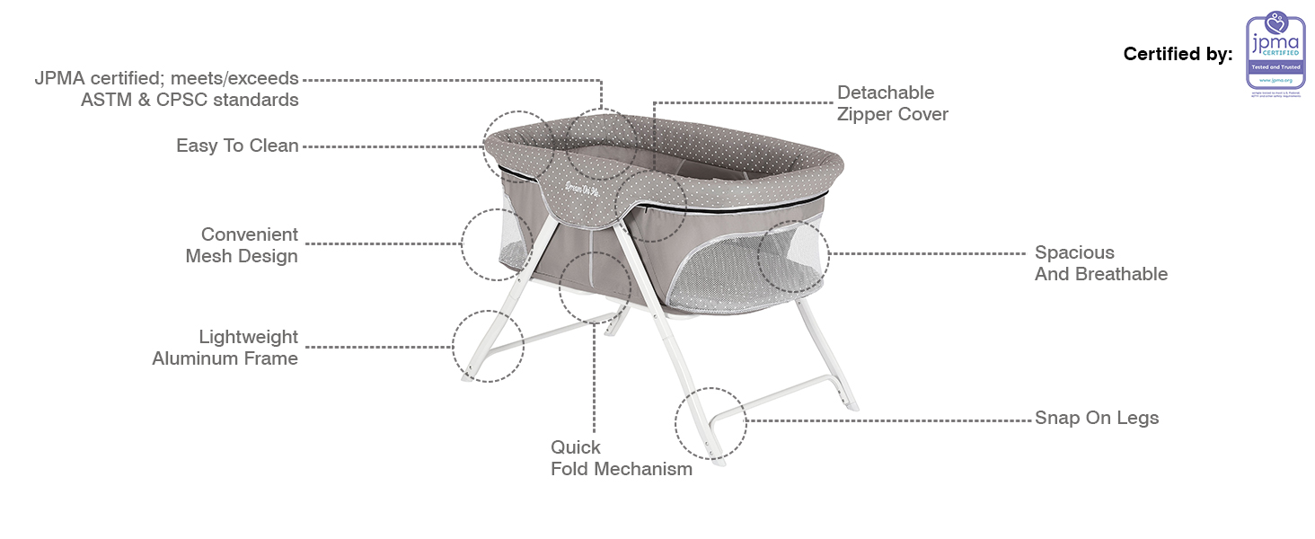 bassinet,Portable bassinet,breathable bassinet,mesh bassinet,lightweight bassinet,travel bassinet