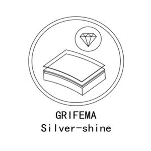 G1 // 2 pollici, Diametro 110 mm GRIFEMA COMPLENTO-G802 Manopola Doccia Grande Doccia Soffione con 3 modalit/à Spray Argento//Cromo