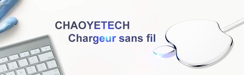 CHAOYETECH Chargeur sans Fil, Chargeur de Batterie Rapide