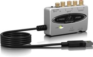 Amazon.com: BEHRINGER U-PHONO UFO202 interfaz de audio/USB ...