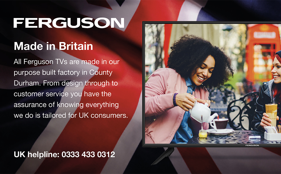 Ferguson F40RTS 40 inch Smart Full HD LED TV with streaming apps and catch up TV built-in Made in the UK