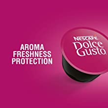 NESCAFE DOLCE GUSTO COFFEE, COFFEE MACHINE, CAPSULES, ESPRESSO, POD, aroma freshness protection