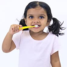 Brilliant Child Toothbrush designed to empower your child with independent oral hygiene while being confident they clean everywhere effectively.