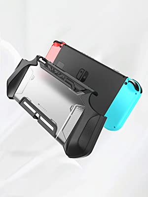 Mumba Dockable Case for Nintendo Switch TPU Grip for Nintendo Switch Console and Joy-Con Controller