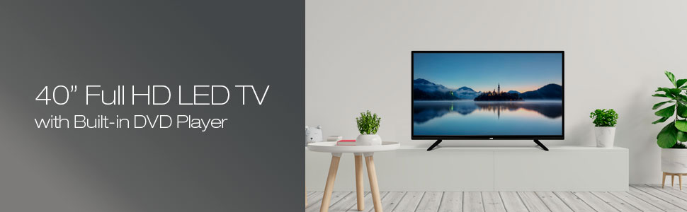 """40"""" FULL HD LED TV WITH BUILT-IN DVD PLAYER"""