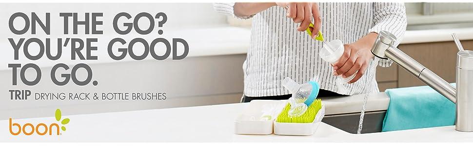 Boon Grass Travel Drying Rack//Holder//Dryer for Infant//Baby Bottle//Utensils//Brush