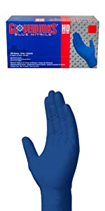 Seidman Associates GNGU-XLGE-22-18 22 Mil Heavy Duty Nitrile Gloves XL