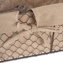 clothed wire basket,wire storage basket,wire shelves liners,metal basket storage,metal basket