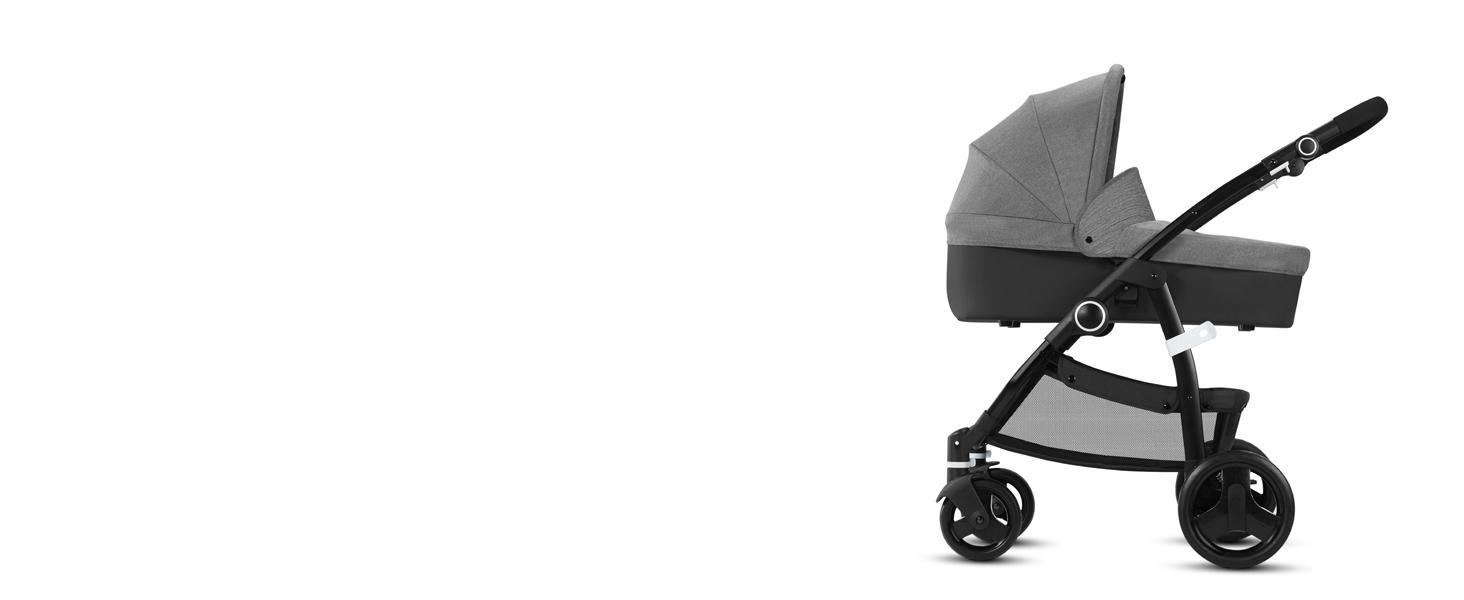 Cbx Leotie Pure - Cochecito con asiento reversible y capazo para recién nacidos, incluye cubierta para lluvia, desde el nacimiento hasta los 15 kg, ...