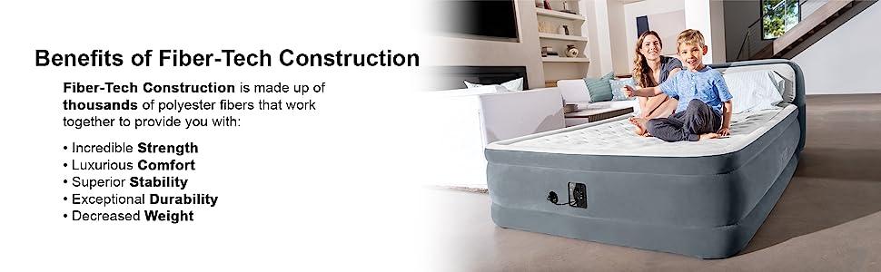 Amazon.com: Intex Queen Dura Beam Deluxe - Colchón hinchable ...