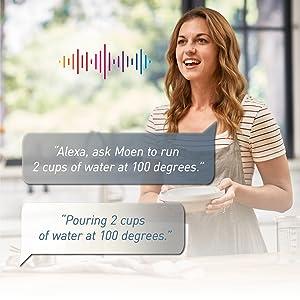 u by moen smart faucet voice control