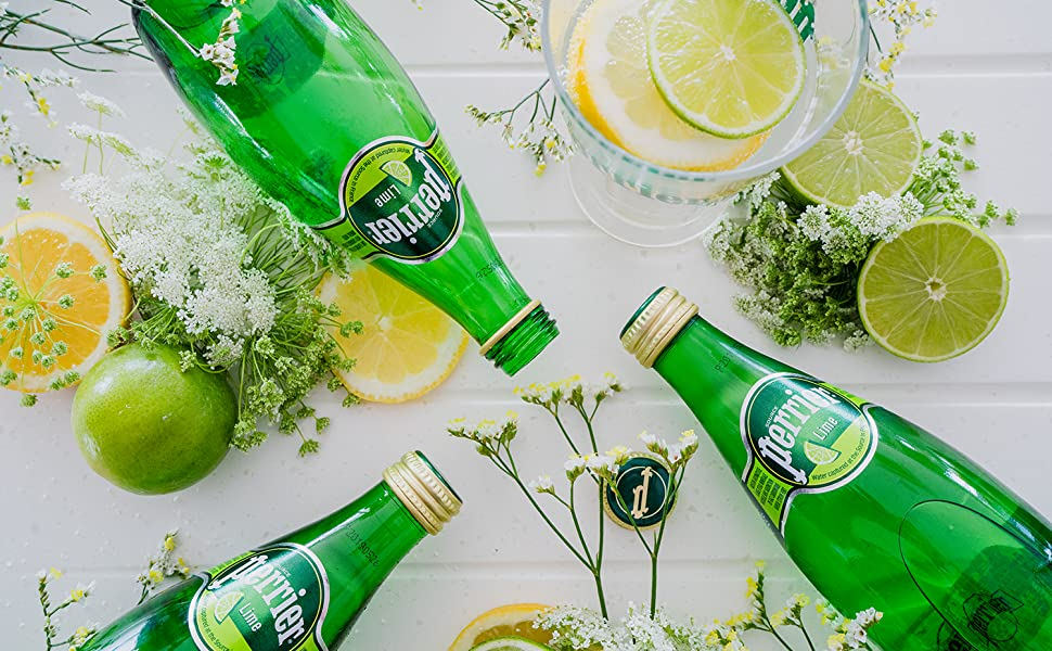 Perrier Lime 330 glass Lifestyle Image