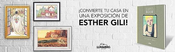 Expo book, Esther Gili, laminas, arte, dibujo, pinturas, regalo