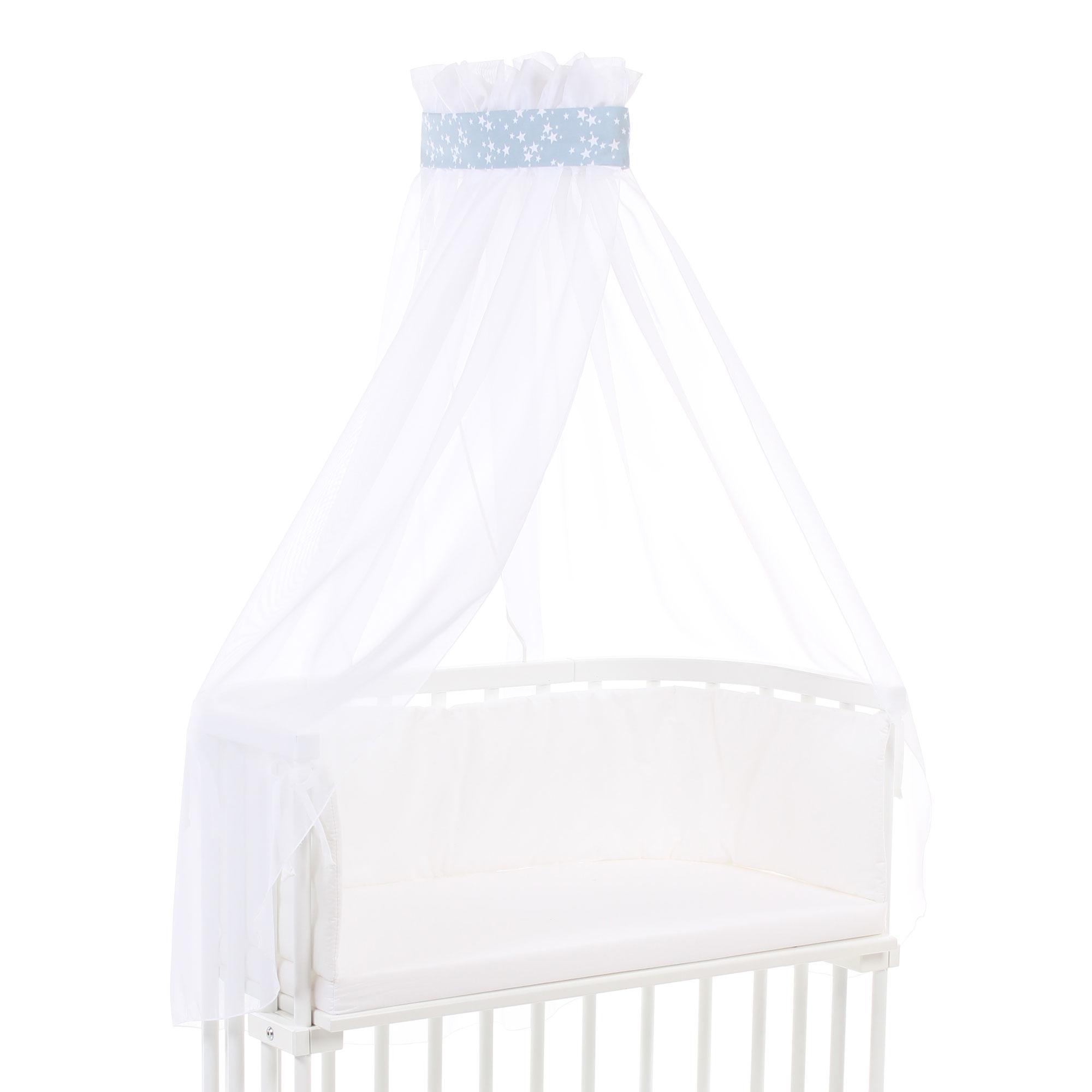 Babybay Himmel Pique Mit Band Fur Alle Modelle Weiss Amazon De Baby