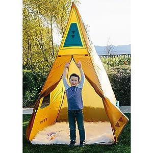 kids play teepee tent