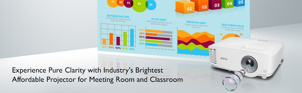 Experience Pure Clarity with Industry's Brightest Affordable Projector for Meeting Room & Classroom