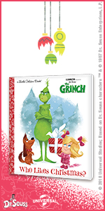 Who Likes Christmas, the grinch, illumination, dvd, movie, family, kids, book, little golden book