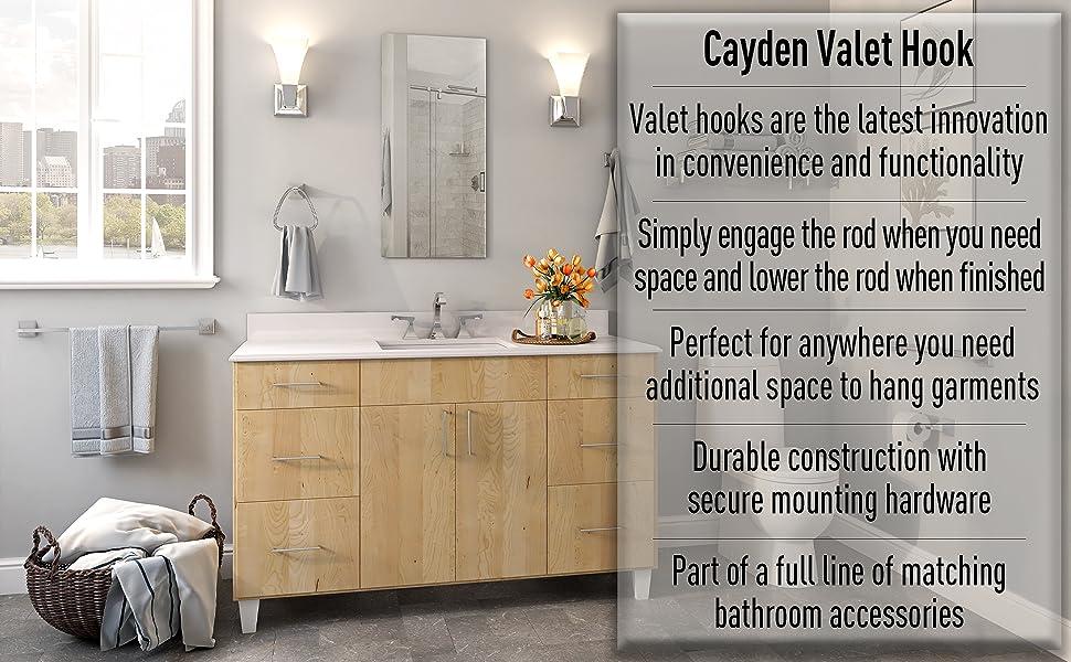 Ginger Cayden Valet Hook 4917 Sn Satin Nickel Amazon Com