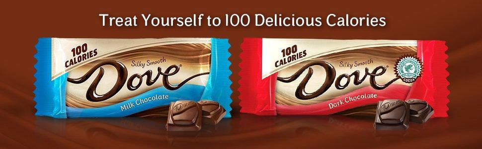 Amazoncom Dove 100 Calories Milk Chocolate Candy Bar 065 Ounce