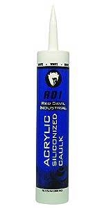 Red Devil 08460I RD Pro Construction Grade Siliconized Acrylic Sealant, 10.1 oz., White