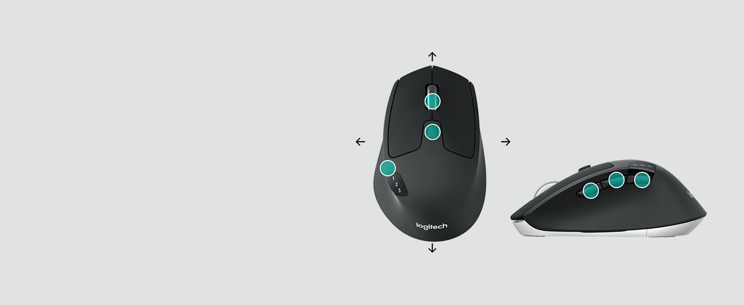 Amazon.com: Logitech M720 Triathalon Multi-Device Wireless Mouse ...