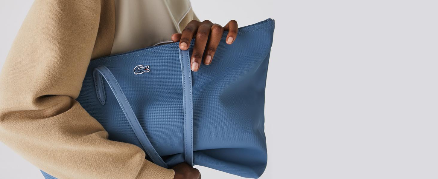 Bolso azul calizo con cremallera Lacoste L.12.12 Concept