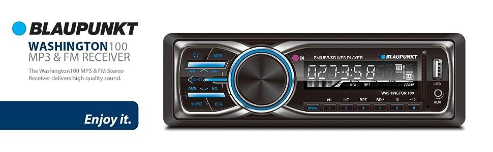 Amazon Blaupunkt Washington 100 Mp3 And Fm Car Stereo Receiver. Blaupunkt Car Stereo Mp3 Fm Receiver Washington100 Sd Card Usb Port Auxin Dvd Cd. Wiring. Jvc Radio 970 Diagram At Scoala.co