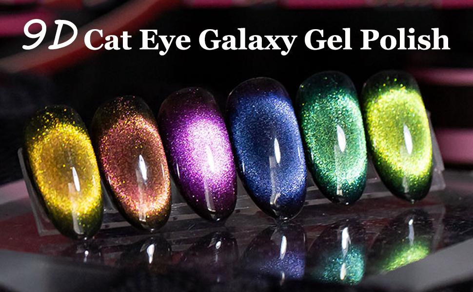 9D cat eye gel nail polish