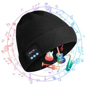 Regalos de cumplea/ños para Amigos Regalos Originales COTOP Gorro de Invierno Bluetooth 5.0 familias Gorro de Punto Musical para Hombres y Mujeres con Auriculares est/éreo y micr/ófono Manos Libres